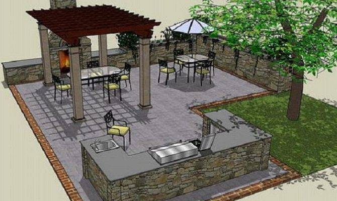 Plans Outdoor Kitchen Ideas Kitchens Designs Home Design