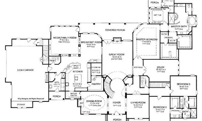 Plans Pinterest French Country Homes One Story
