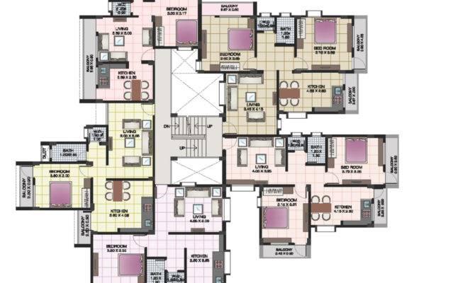 Plans Shri Krishna Residency Kankavali Apartment Floor