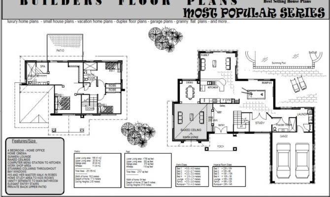 Plans Story Storey Floor Plan Double House