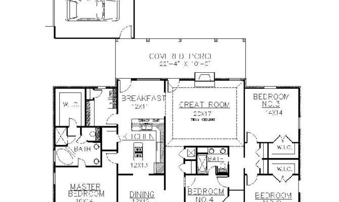 Plantation House Plans One Story Design Layout