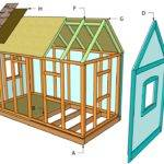 Playhouse Plans Outdoor Diy Shed Wooden
