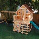 Playhouse Swing Set Wood Play House