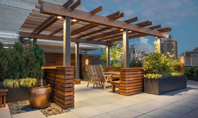 Pleasant Rooftop Terrace Design Stunning City Views