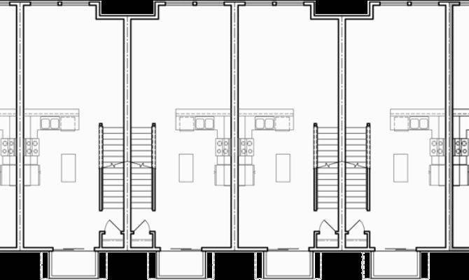 Plex House Plans Row Townhouse