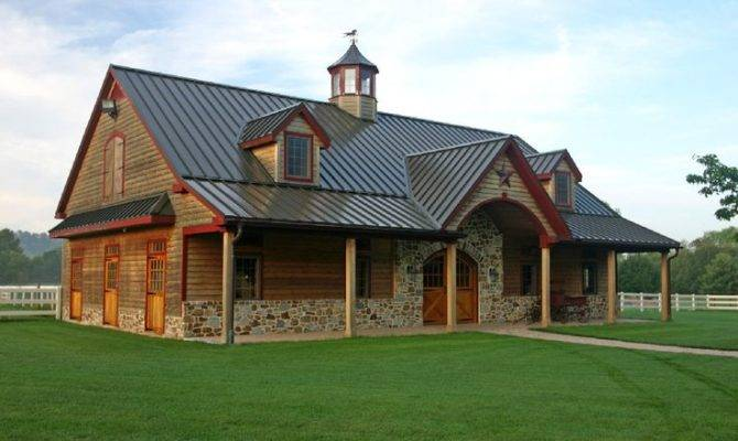 Pole Barn Style House Plans Home Horse Facility