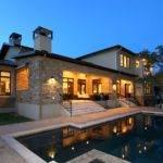 Pool Hill Country Modern Zbranek Holt Custom Homes Austin Luxury