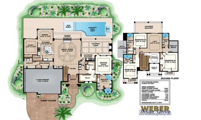 Pool House Plans Including Cabana