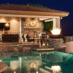 Pool House Plans Outdoor Kitchen Plan