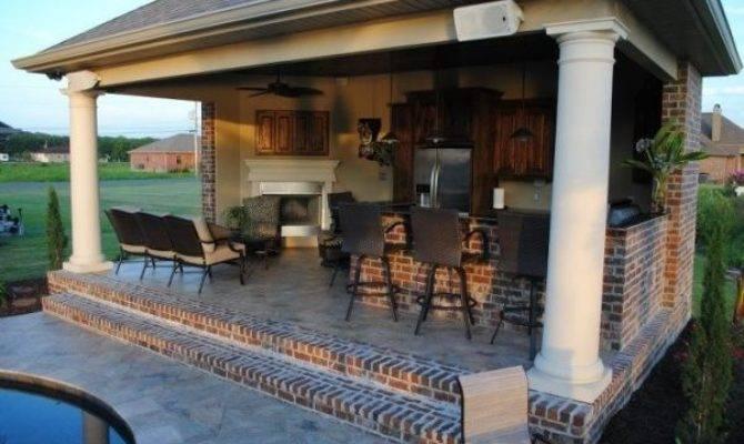 Pool House Plans Outdoor Kitchen Rapflava
