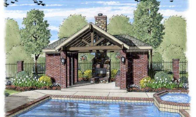 Pool Pavilion Designs Backyard