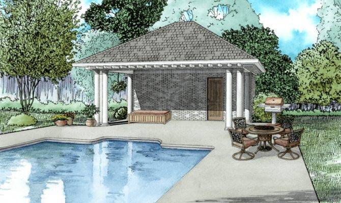 Poolhouse Plans Plan Bathroom