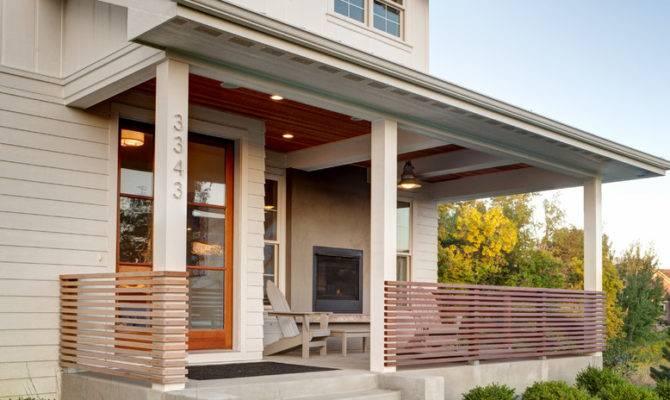 Porch Railing Ideas Farmhouse Beams Beige