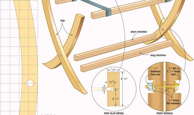 Portable Table Tray Woodworking Plans Woodshop