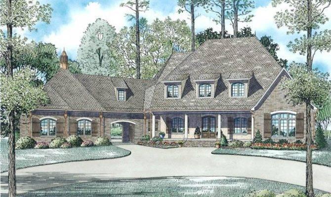 Porte Cochere Home Plans Design