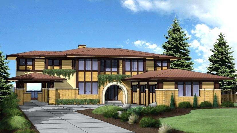 Prairie House Plans Exterior Style Home