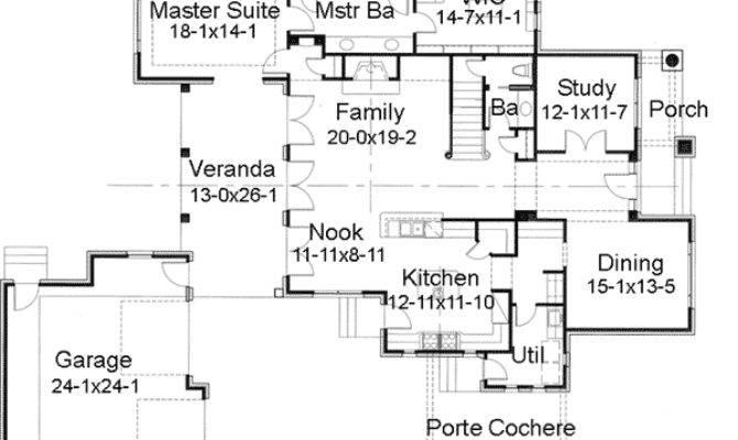 Prairie Style Home Porte Cochere