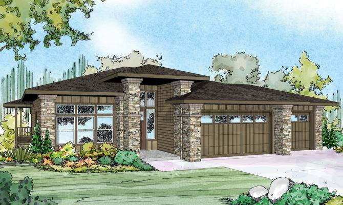 Prairie Style House Plans Hood River Associated Designs