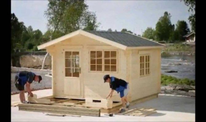 Prefab Wooden Garden Cabin Installation Stamford