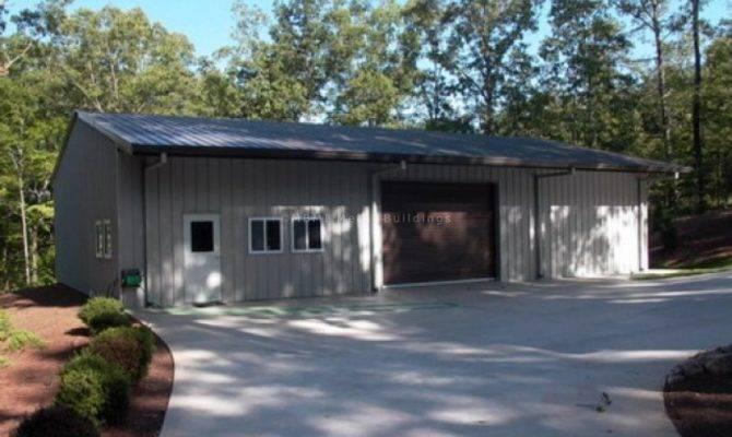 Prefabricated Steel Garage Buildings One Two Car Metal Kits