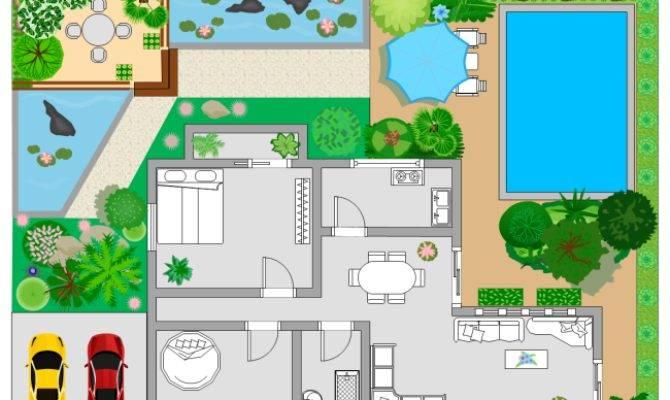 Printable Garden Design Floor Plan Template - Home Plans & Blueprints | #24685