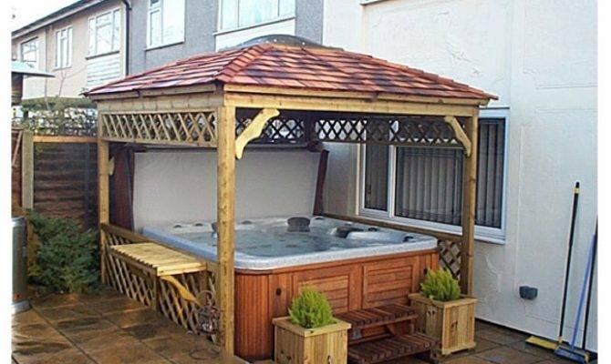Private Hot Tub Gazebo Ideas Pergola Gazebos