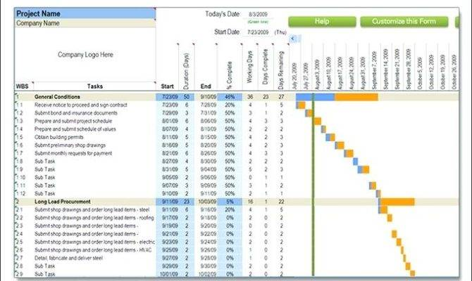 Project Plan Template Excel Home