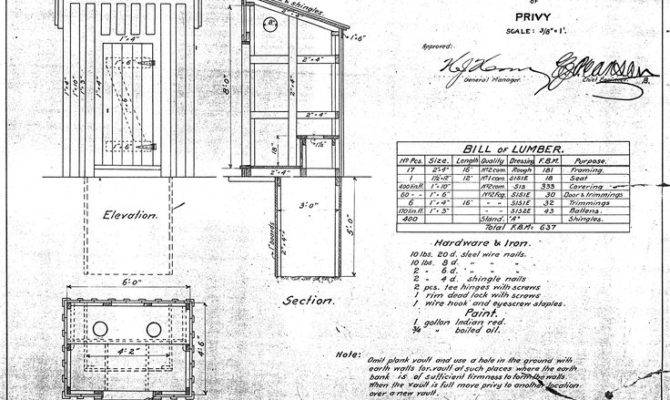 Quick Easy Outhouse Plans Camperizing Pinterest