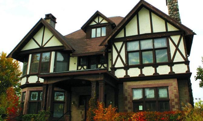 Quiet Streets Well Kept Homes Rustic Doors Gables Decorative