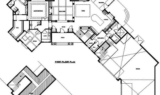 Rambler House Plans Angled Garage