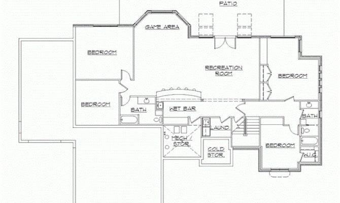 Rambler House Plans Finished Basement Eplans