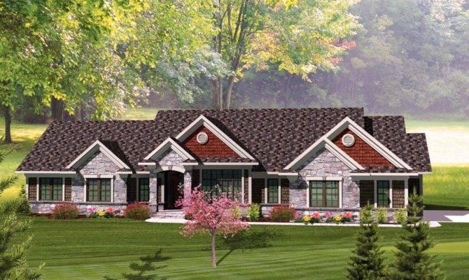 Rambling Bedroom Ranch Home Plan