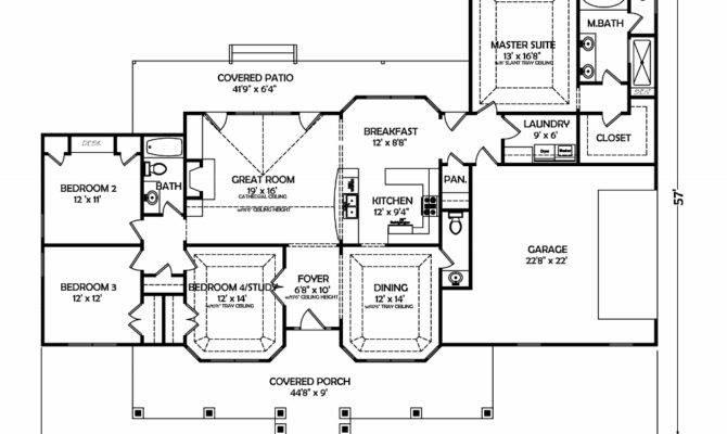 Rambling Ranch House Plans Plan Bedroom