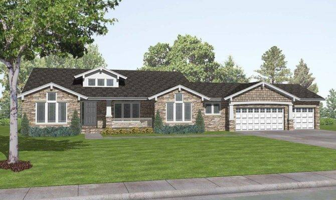 Ranch Craftsman Style House Plans New Romaine Place