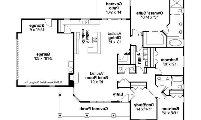 Ranch House Plan Brightheart Floor