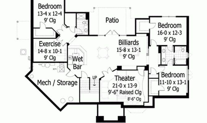 Ranch House Plan Four Bedroom Home Square Feet
