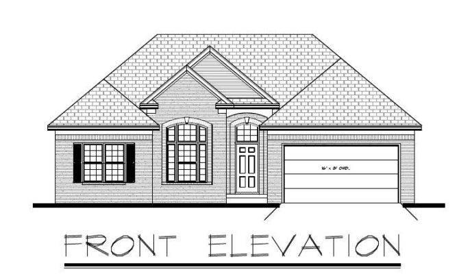 Ranch House Plan Garage Basement Ebay