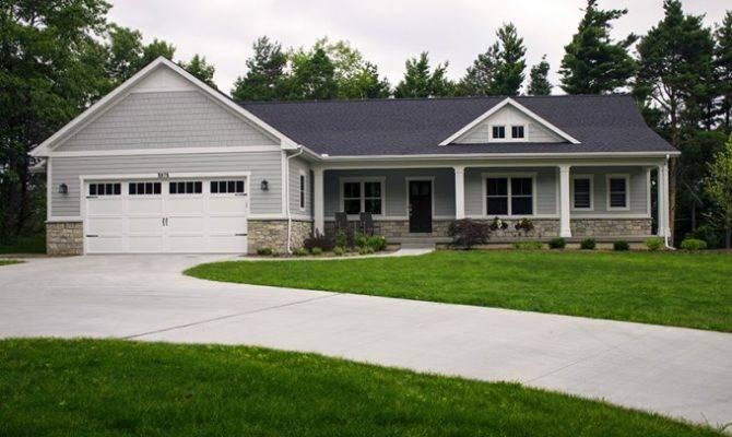 Ranch House Plan Open Finished Walkout Basement Home Plans Blueprints 21442