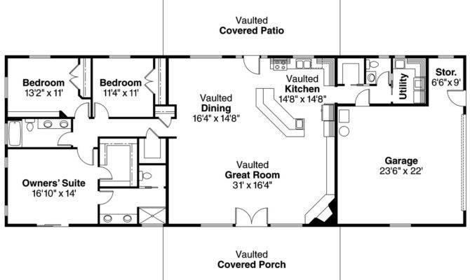 Ranch House Plan Ottawa Floor