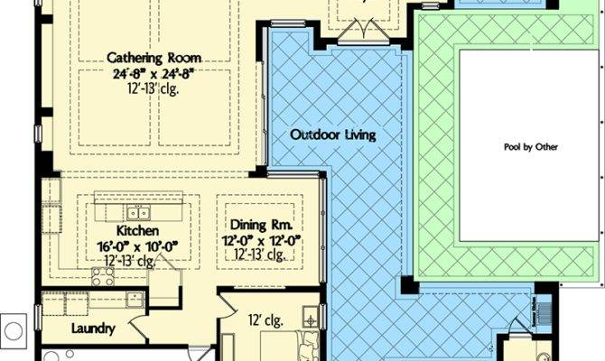 Ranch House Plans Courtyard Garage
