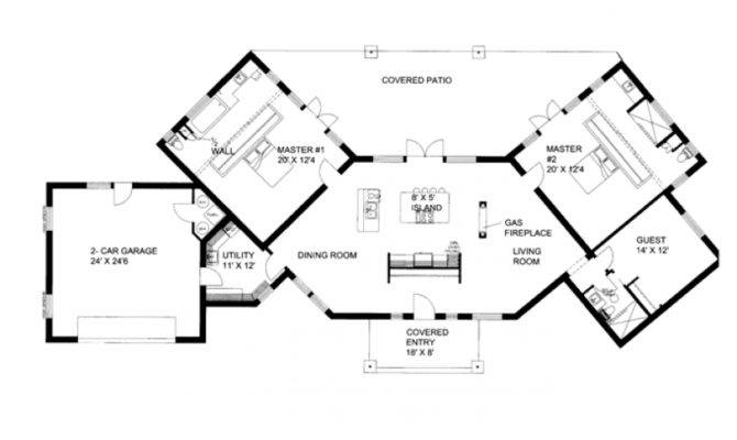 Ranch House Plans Dual Master Suites