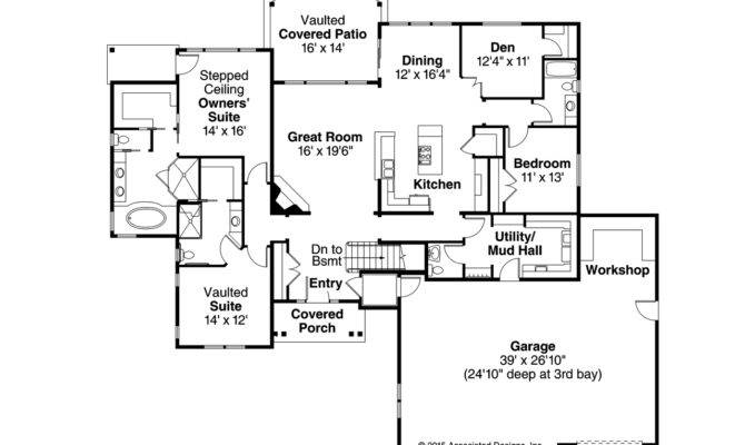 Ranch House Plans Little Creek Associated Designs