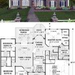 Ranch Houseplan Exceptional Master Suite