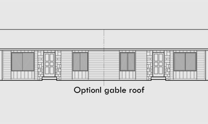 Ranch Style Duplex Design House Plan Single Level Floor
