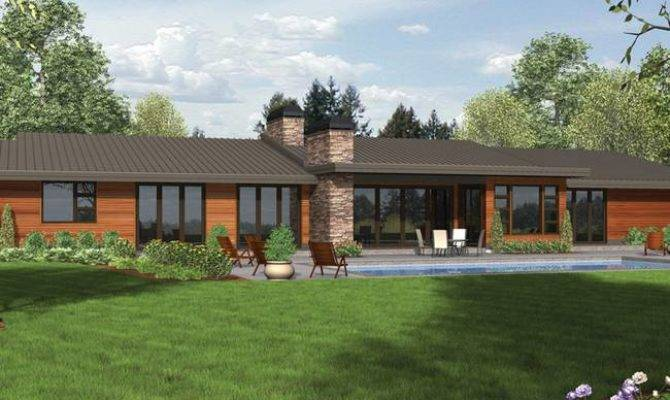 Ranch Style Homes House Plans Modern Cottage