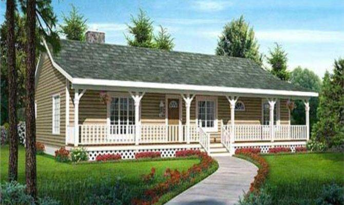 Ranch Style House Plan Front Porch Ideas