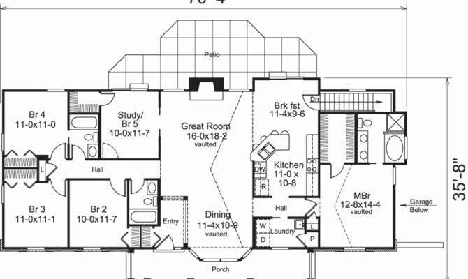 Ranch Style House Plans Bedroom Escortsea