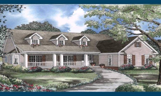 Ranch Style House Plans Front Porch Youtube
