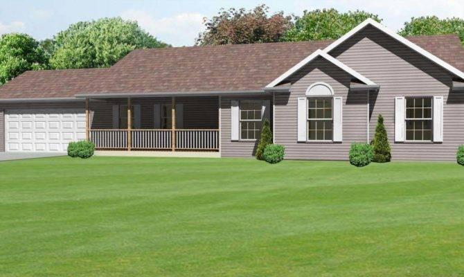 Ranch Style House Plans Porch Cottage