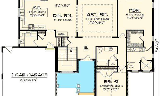 Ranch Style House Plans Side Load Garage